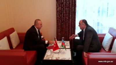 Azerbaijani and Turkish FMs met