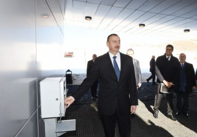 President Ilham Aliyev attended the opening of a ski slope of the Shahdag winter