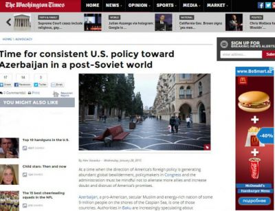 Time for consistent U.S. policy toward Azerbaijan in a post-Soviet world