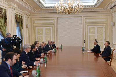 President Ilham Aliyev received a delegation led by the Executive Director of the American Jewish Committee