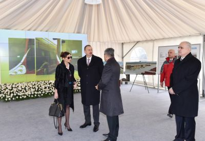 President Ilham Aliyev reviewes Baku Sports Palace
