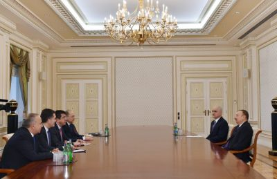 President Ilham Aliyev received Turkish minister