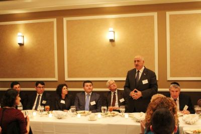 An Azerbaijani delegation met member of the City Council of Los Angeles