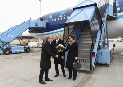 President Ilham Aliyev arrived in Germany