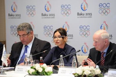 Azerbaijan's First Lady welcomes EOC members to final Baku 2015 Coordination Commission visit