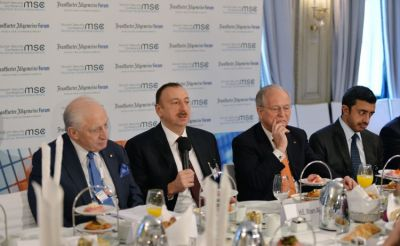 "President Ilham Aliyev attended ""Diversification strategies"" roundtable of the Munich Security Conference"