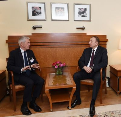 President Ilham Aliyev met with Thorbjorn Jagland in Munich