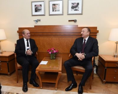 Azerbaijani President met with French Defense Minister