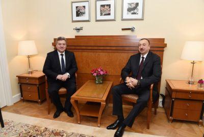 President Ilham Aliyev met Gorge Ivanov