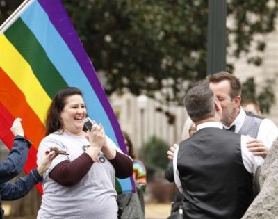 In some parts of Alabama same-sex marriage begins