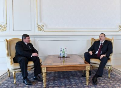 President Ilham Aliyev received the credentials of the newly appointed Kyrgyz Ambassador