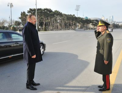 President Ilham Aliyev attended a ceremony to unveil the newly-bought cars for agencies of the Ministry of Internal Affairs PHOTO
