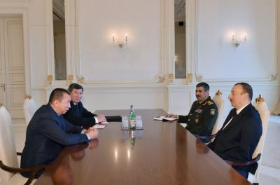 Azerbaijani President received Defence Minister of Kyrgyzstan