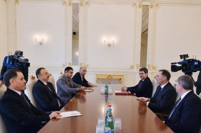 President Ilham Aliyev received a delegation  the French Senate