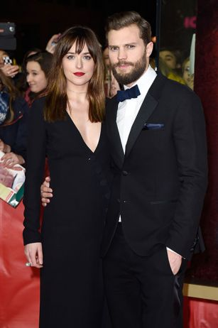The world premiere of the Fifty Shades of Grey heat up