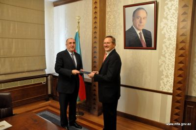 Elmar Mammadyarov receives the newly appointed US Ambassador