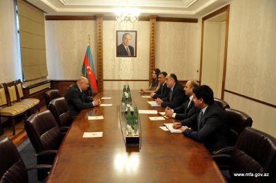 Azerbaijani FM Elmar Mammadyarov received the newly appointed Ambassador of Poland