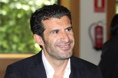 Figo launched his campaign for the FIFA presidency