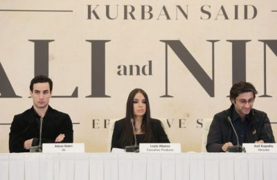 "Leyla Aliyeva attends press conference on film ""Ali and Nino"" PHOTO"