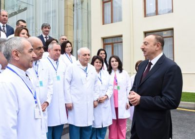 President reviewed the reconstruction work at Mingachevir City Central Hospital PHOTO