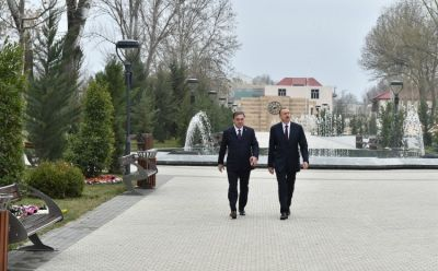 President Ilham Aliyev reviewed the Friendship Park in Mingachevir