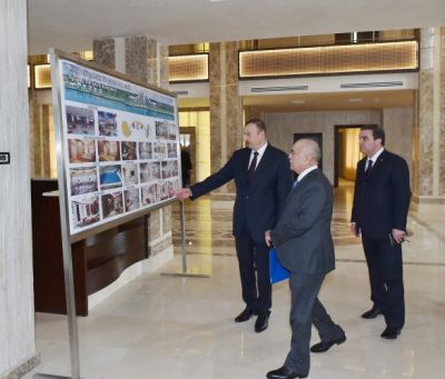 President reviewed the progress of construction at Aghsaray hotel   PHOTO