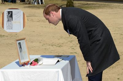 Prince William remembers his mother during visit to Japan