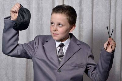 An 11-year old boy dressing as 50 Shades of Grey