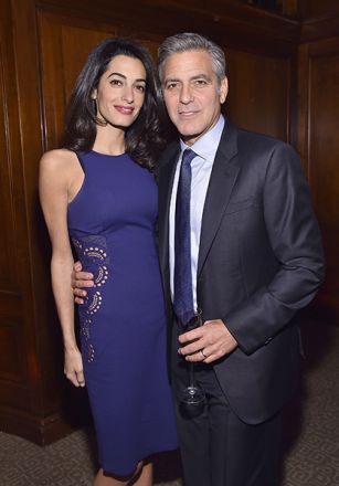 Amal Clooney supports husband