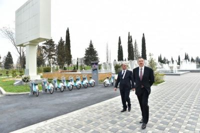 President visited the newly-built park-boulevard