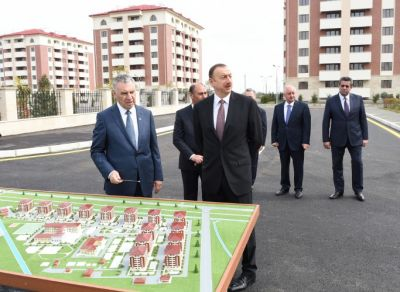 President reviewed a newly-built residential complex