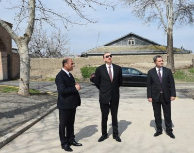 President reviewed ongoing repair work at Barda Mausoleum  PHOTO