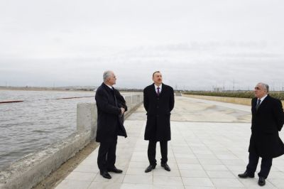 President Ilham Aliyev reviewed  Lake Boyukshor