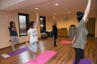 "Open class on yoga hold in ""Excelsior Hotel Baku"""