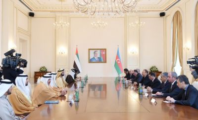 Azerbaijani President met Vice President of the UAE