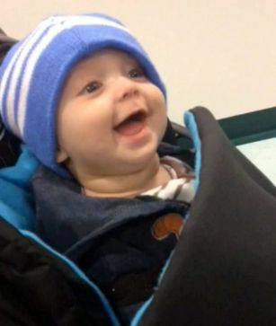 Baby dies after laughing for the first time