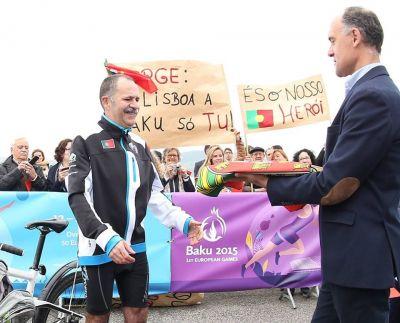A  cyclist's journey to the Baku 2015  begun