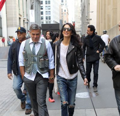 Amal Clooney does biker chic