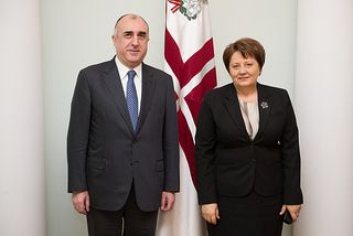 Azerbaijani FM meets with Latvian Premier