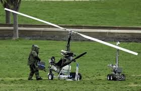 The US protester lands mini copter on Capitol lawn