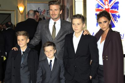 The Beckhams at Burberry show