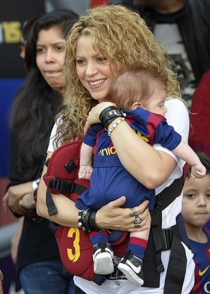 Shakira's son Sasha at first football game PHOTO