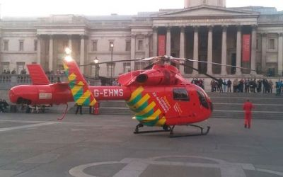 Woman fell from Trafalgar Square