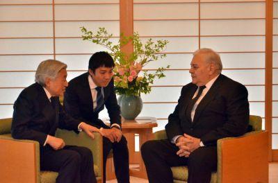 Azerbaijani Speaker met Emperor of Japan Akihito
