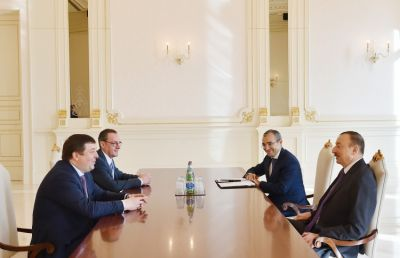Azerbaijan President received  Petr Glybochko
