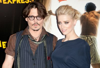 Johnny Depp and his  wife seen together
