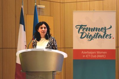 Azercell's representative stressed women's role in ICT during her speech at the international conference