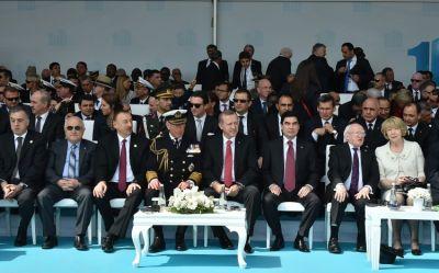 Azerbaijani President  attends a ceremony