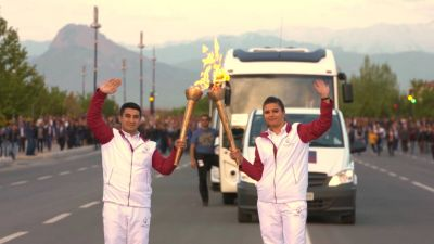 Baku 2015 Journey of the Flame began in Nakhchivan