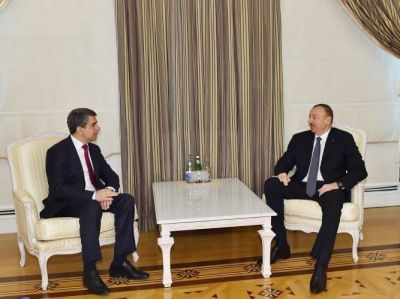 Azerbaijani President meets his Bulgarian counterpart